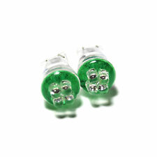 MG Metro 501 Green 4-LED Xenon Bright Side Light Beam Bulbs Pair Upgrade