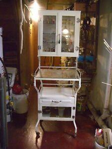 Medical dental cabinet vintage