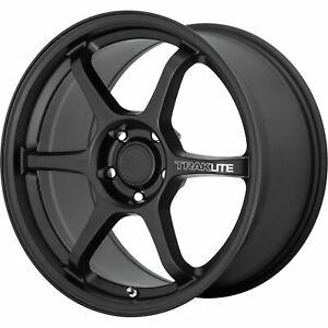 17x8.5 Motegi MR145 Traklite 3.0 5x114.3 35 Satin Black Wheels Rims Set(4) 72.6