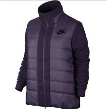 Women's Nike Down Filled Tech Puffer Jacket Quilted Purple Size Small 822639-524