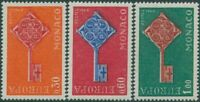 Monaco 1968 SG911-913 Europa key set MNH