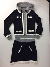 Miss Grant Girls Outfit Set, Size Age 8, Size 34, Skirt & Hoodie, Black