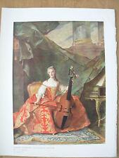VINTAGE 1912 PRINT - MADAME HENRIETTE DAUGHTER OF LOUIS XV By J.M.NATTIER