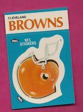 1987 BROWNS  NFL FOOTBALL STICKERS  NRMT-MT CARD (INV# A4981)