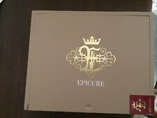 Epicure Wood Cigar Box ToroTaupe Slide Lid New, no cigars