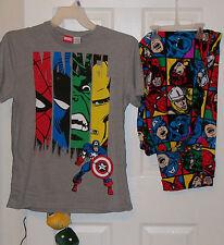 Marvel Comics Heroes Pajama Pants Lounge PJ 2 Piece Set Mens Size Medium NWT