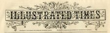 1868 ILLUSTRATED TIMES Newspaper BILLINGSGATE MARKET Sierre Sion CARDIFF (6070)