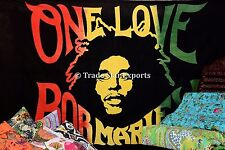 Hippie Bob Marley Legend Wall Art One Love Tapestry Rasta Wall Hanging Decor Art