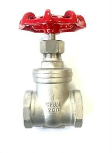 """Stainless Steel Gate Valve  :  1/2"""" to 2"""" BSP"""