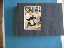 1957 TOPPS #407 MICKEY MANTLE-YOGI BERRA YANKEES POWER HITTERS BASEBALL CARD