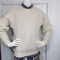 The Great Australian Mens Sweater By Sportcraft Natural 100% Merino Wool SZ M
