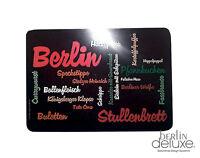 Schnittbrettchen Berliner Stullenbrett NEU Schneidebrett Frühstücksbrett Berlin