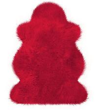 Rotes Australisches Lammfell Lammfelle Rot von Heitmann ca. 100 x 68