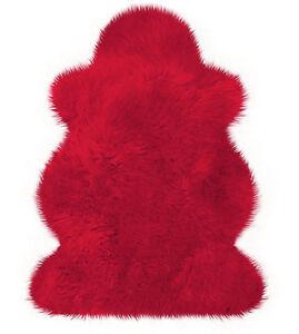 Rotes Australisches Lammfell Rot von Heitmann ca. 100 x 68 SONDERANGEBOT