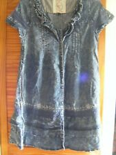 LADIES NEXT BLUE DENIM DRESS, SIZE 14