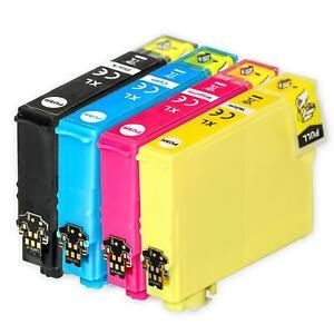 4 Ink Cartridges XL (Set) for Epson WorkForce WF-2835DWF & WF-2850DWF
