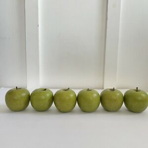 Faux Fruit 6 Apples Granny Smiths Green Display Quality Pottery Barn?_Fall Decor