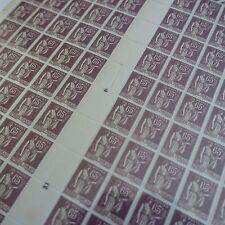 FEUILLE SHEET TIMBRE TYPE PAIX N°284 x100 1937 NEUF ** MNH