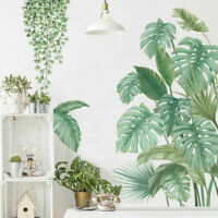 Tropical Leaves Plant Wall Stickers Vinyl Decal Nursery Decor Art Mural Gift