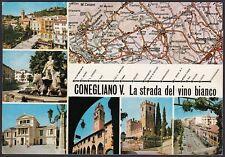 AA4614 Treviso - Provincia - Conegliano Veneto - Vedute e carta automobilistica