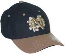 NOTRE DAME FIGHTING IRISH PURSUIT 2-TONE JERSEY FLEX FIT FITTED HAT CAP M acc94d70349b