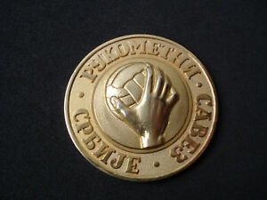 Serbia Handball Accociation medal, plaque; Yugoslavia