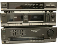 Sony TA-AX380 Integrated Stereo Amplifier Tuner Cassette Deck Working or Parts