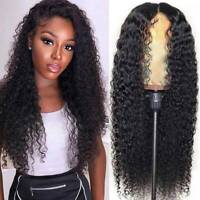 Deep Wave Curly Full Wigs Glueless Indian Remy Human Hair Wigs None Lace Wigs Fr