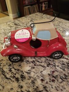 2016 Wild Blooms Resin RED/TAN COUPE CAR Birdhouse NWT