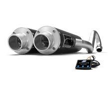 HMF Can-Am Renegade 1000 2017 2018 Black Dual Full Exhaust Muffler + EFI