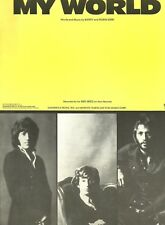"""BEE GEES """"MY WORLD"""" SHEET MUSIC-PIANO/VOCAL-1971-VERY RARE-BRAND NEW ON SALE!!"""