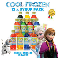 More details for frozen slush puppy slushie syrup 12 x 250ml syrups with frozen inspired stickers