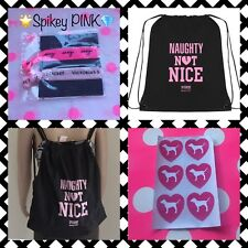 NEW Victoria's Secret PINK Hairties & CUSTOM drawstring Backpack *FREE STICKERS*