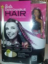 Barbie Designable Hair Extensions African-American Doll - New, light wear to box