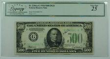 1934 $500 Five Hundred Dollar Bill DGS FRN Fr. 2201a-G Legacy VF-25 (DW)