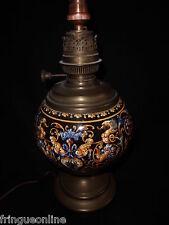 Pied de de lampe en faience de GIEN décor renaissance Italienne