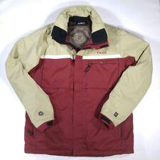 ORAGE Mens L Snowboard Ski Jacket Coat Burgundy Insulated Elastic Snow Skirt