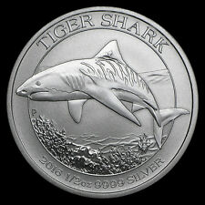 2016 1/2 oz .9999 Silver Australian Tiger Shark Coin from Mint Roll 7