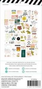 9PC K/&Co Studio 112 COOL FLOWERS CARDSTOCK DIE-CUTS scrapbooking