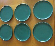 6 Waechtersbach SOLID COLORS HUNTER GREEN Salad Plates Discontinued Pattern