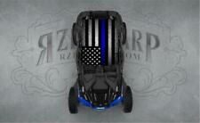 2 SEAT POLARIS RZR CAN-AM BLUE LINE UNIVERSAL ROOF WRAP STICKER GRAPHIC DECAL