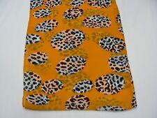 naranja blanco y Negro Estampado - Ligero Poliéster Infinity Bufanda