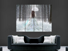 GIRL DRESS SNOW FOREST POSTER UMBRELLA WALL ART LARGE IMAGE