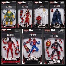 Marvel Legends Spider- Man Wave SP//DR Baf Set Presale Cloak Dagger Daredevil