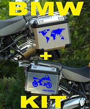 "BMW GS ""ONE WORLD KIT"" DARK BLUE / BLU STICKERS / ADESIVI"