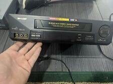 â­� Sharp Model Vc-H993U Vcr S-Vhs Hi-Fi 4 Head Rapid Rewind Tested *No Rremote*