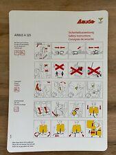 Safety Card Airbus A320 Lauda Air