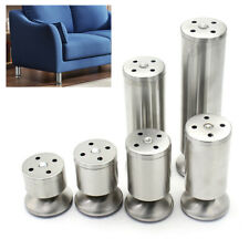 4PCS STAINLESS STEEL FURNITURE TABLE BED SOFA FEET ADJUSTABLE CABINET LEGS