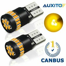 2X AUXITO Amber Yellow 168 194 W5W  Interior Light Side Marke Canbus LED Bulb EA