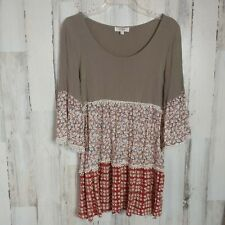 Umgee Size Large Boho Tunic Top Cute Prints Wide Sleeves